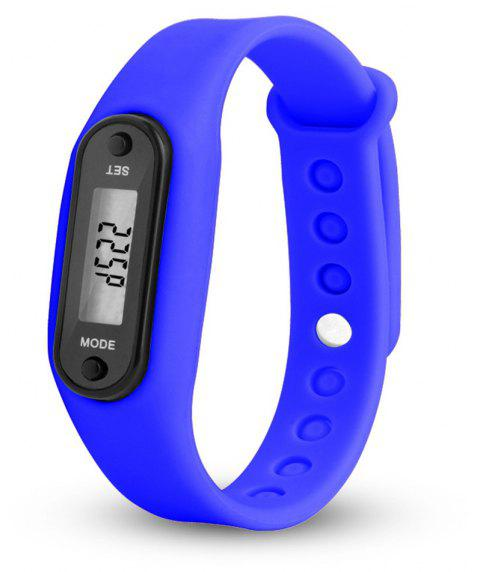 Sport Watch Digital LCD Silicone Band Pedometer Distance Calorie Counter - OCEAN BLUE