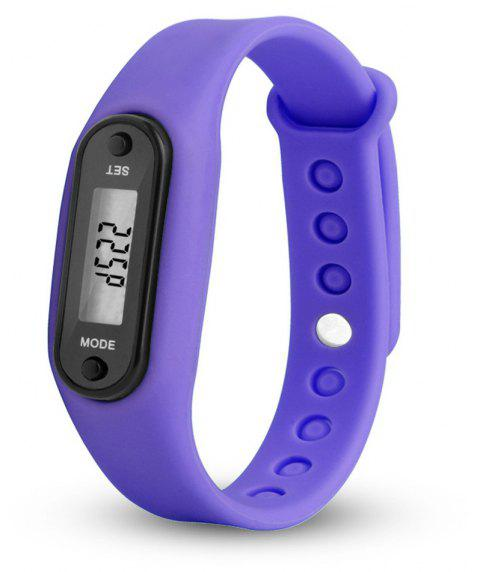 Sport Watch Digital LCD Silicone Band Pedometer Distance Calorie Counter - PURPLE