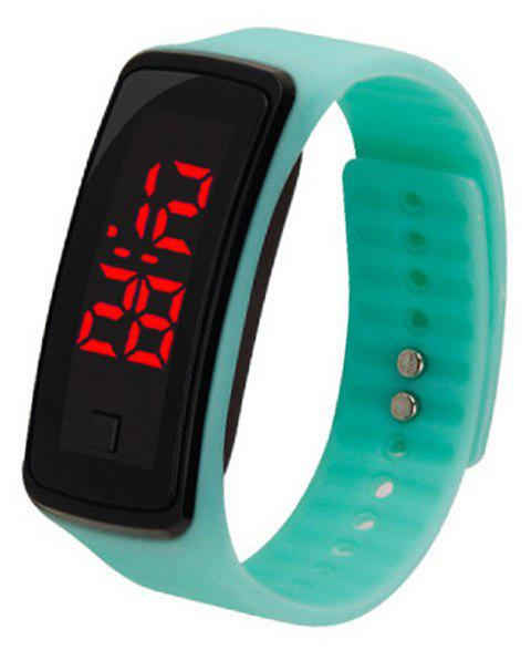 LED Electronic Watch Children's Male And Female Students Sports Watch - PISTACHIO GREEN