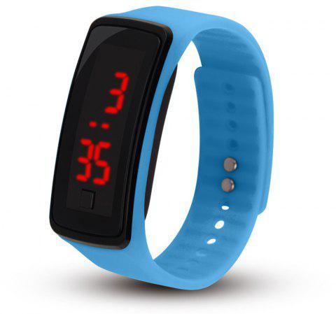LED Electronic Watch Children's Male And Female Students Sports Watch - SKY BLUE