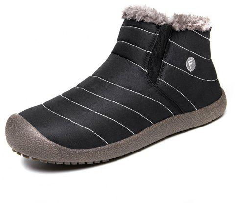 Men's Snow Boots Casual Cotton Shoes - BLACK EU 44