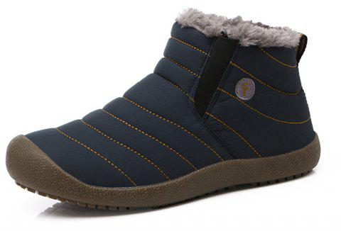 Men's Snow Boots Casual Cotton Shoes - CADETBLUE EU 43