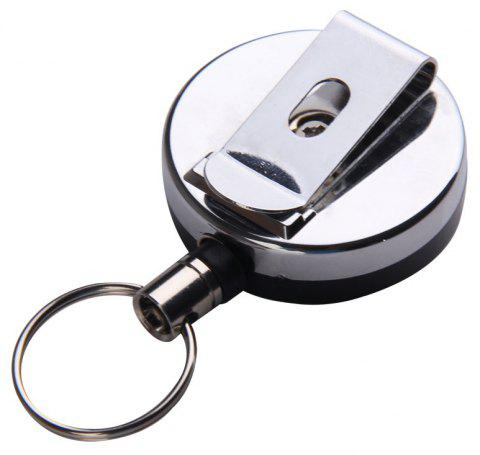 Portable Outdoor Anti Lose/Theft Telescopic Key Buckle - SILVER