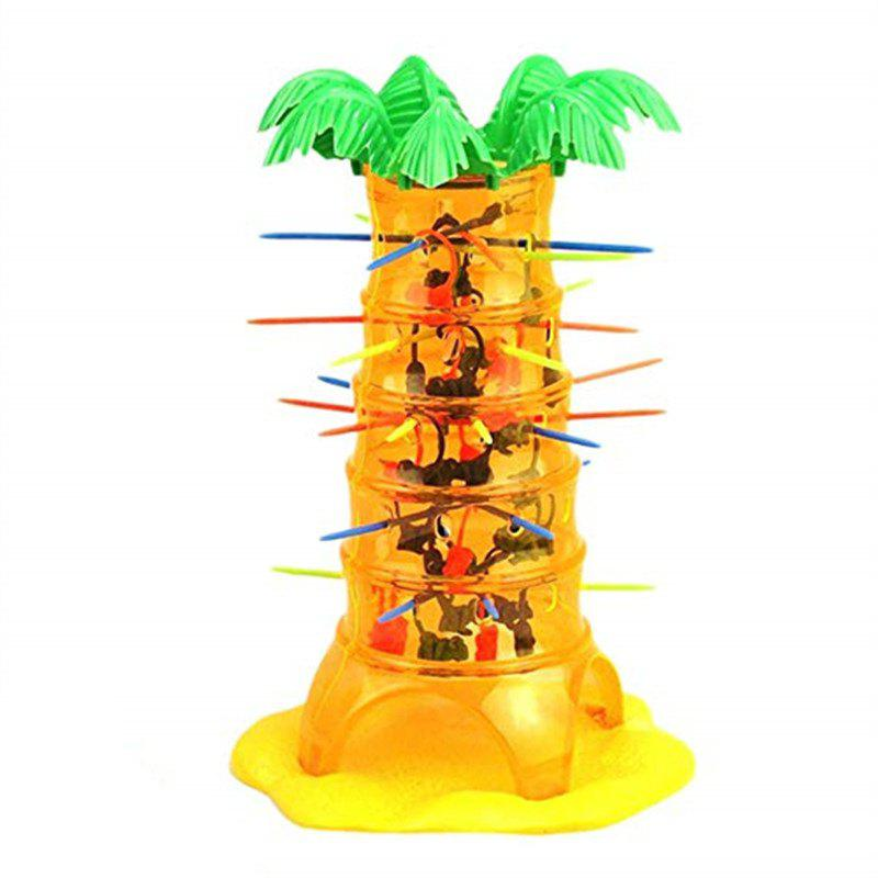 Tumbling Monkey Falling Climbing Board Game Family Parent Child Interactive Toy - YELLOW