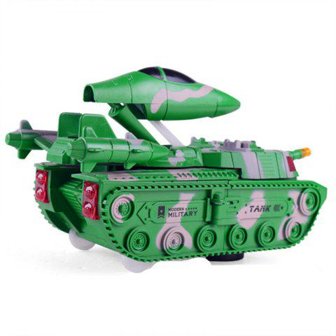 Deformation Universal Tank Deformation Aircraft with Sound Effects Model Toys - CLOVER GREEN