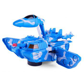 Deformation Universal Tank Deformation Aircraft with Sound Effects Model Toys - DODGER BLUE