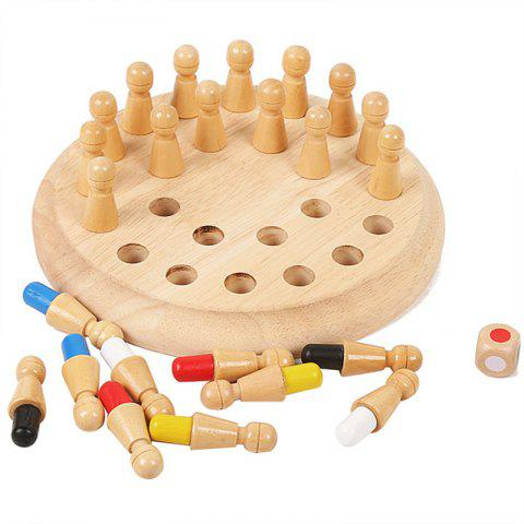 Wooden Memory Match Stick Chess Game Toy - BURLYWOOD