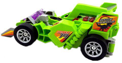 Dinosaur Transformation Electric Car Sound and Lighting Multi-Functional Toys - CHARTREUSE