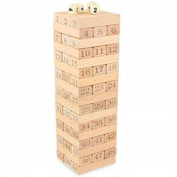 Digital Layer Upon Layer Stack Log Blocks High Folding Wooden Toys - BURLYWOOD