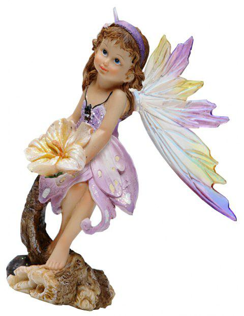 Butterfly Fairy Resin Handicraft Decoration - TYRIAN PURPLE 12.5*10.2*21.7CM