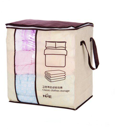 Non-woven Portable Clothes Storage Bag  For Pillow Quilt Blanket - TAN