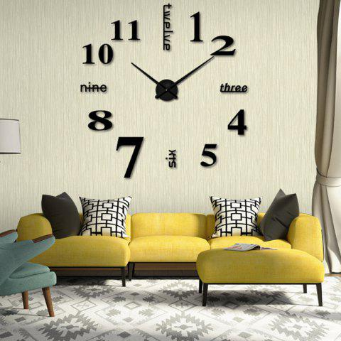 Modern / Contemporary Stainless Steel Round Indoor AA Wall Clock - BLACK