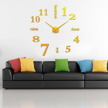 Modern / Contemporary Stainless Steel Round Indoor AA Wall Clock - RUBBER DUCKY YELLOW