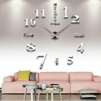 Modern / Contemporary Stainless Steel Round Indoor AA Wall Clock - SILVER