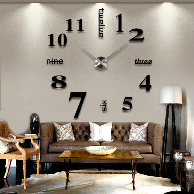 Modern / Contemporary Stainless Steel Round Indoor AA Wall Clock - multicolor