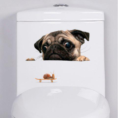 Cartoon Lovely Animal PVC Fridge & Toilet Stickers - multicolor A
