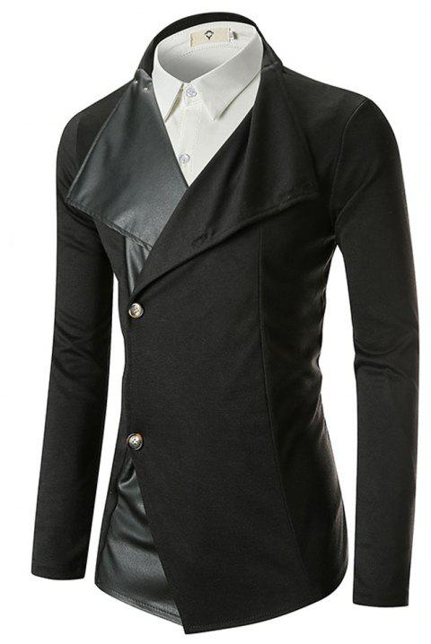Autumn  Winter Collar Men's Trend Blazer - BLACK M