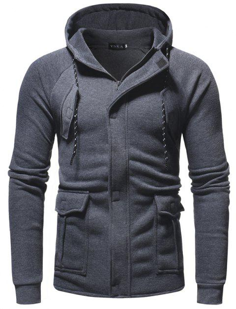 Men's Casual Sports Fashion Hooded Sweater - DARK GRAY XL