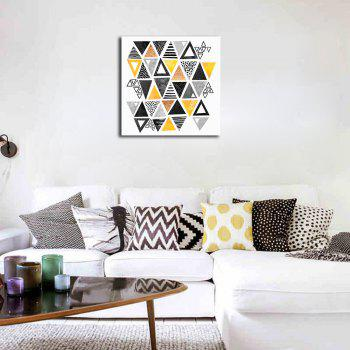 Framed Canvas Modern Minimalist Nordic Living Room Small Fresh Abstract Print - multicolor 20 X 20 INCH (50CM X 50CM)