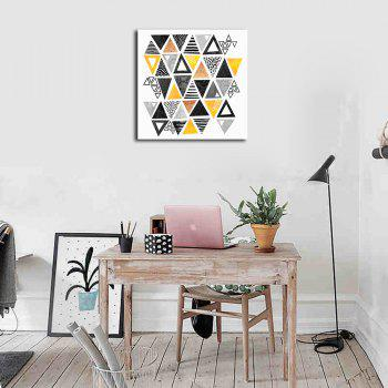 Framed Canvas Modern Minimalist Nordic Living Room Small Fresh Abstract Print - multicolor 16 X 16 INCH (40CM X 40CM)