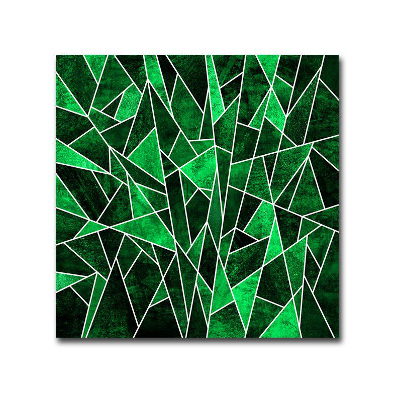 Frame Canvas Hotel Clubhouse Background Wall Abstract Print - multicolor 30CMX30CM