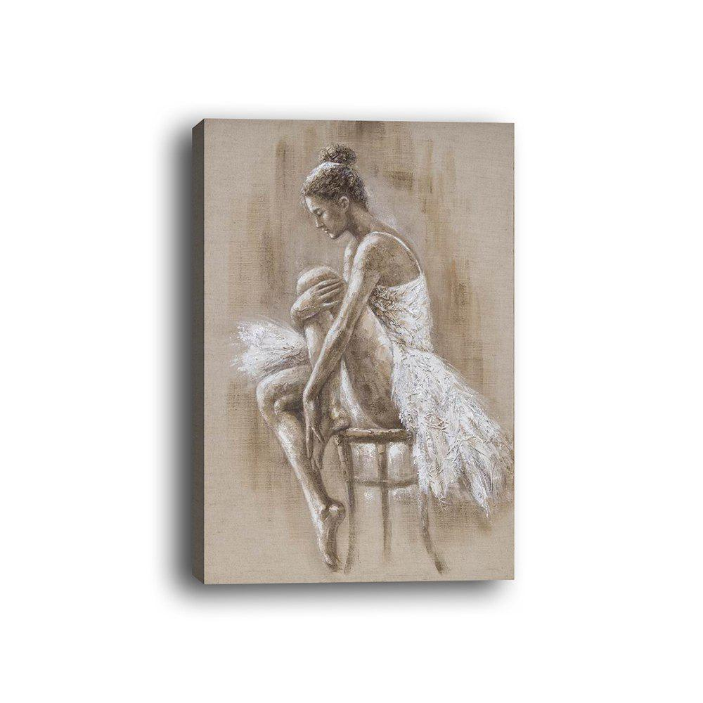 Framed Canvas Character Hotel Porch Dance Studio Print - multicolor 50CMX50CM