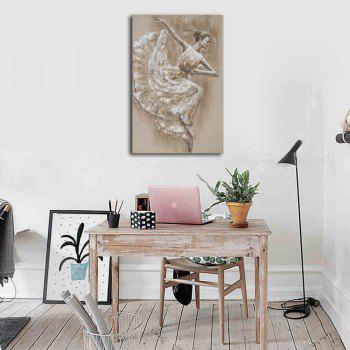 Framed Canvas Abstract Partial Dance Girl Hotel Porch Background Wall Print - multicolor 40CMX60CM
