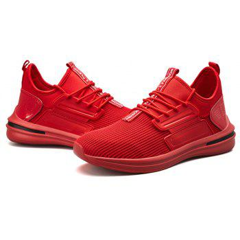 Men Autumn Light Breathable Leisure Sneakers - RED EU 42