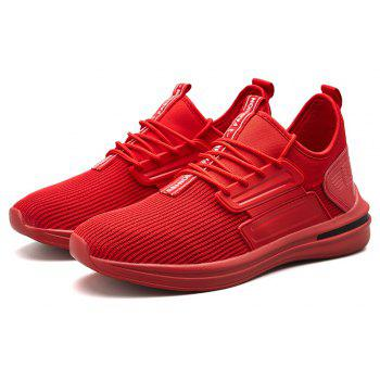 Men Autumn Light Breathable Leisure Sneakers - RED EU 43