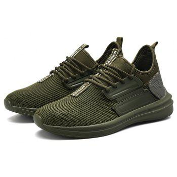 Men Autumn Light Breathable Leisure Sneakers - ARMY GREEN EU 40