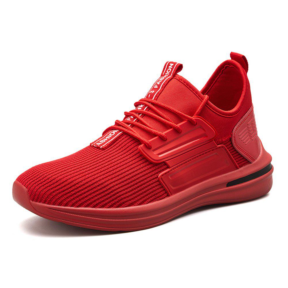 Men Autumn Light Breathable Leisure Sneakers - RED EU 40