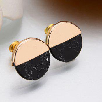 Vantage  Circular Personality Simple Geometric Earrings - BLACK