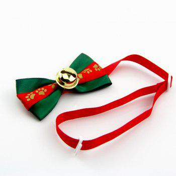 Dog Necktie Pets Tie Christmas Decoration - RED