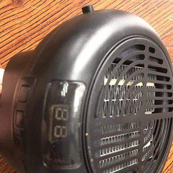 Electric Heating Wonder Heater Adjustable Thermostat Hot Instantly Warm Air - BLACK