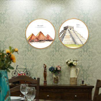 2PCS W589 Pyramid Pattern Frameless Painting - multicolor 50CMX50CMX2PCS