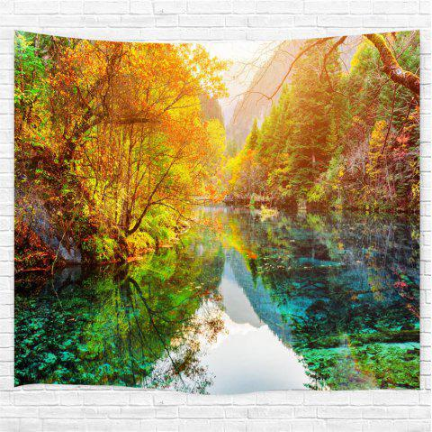 The Lake Forest 3D Printing Home Wall Hanging Tapestry for Decoration - multicolor W230CMXL180CM