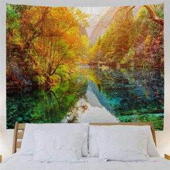 The Lake Forest 3D Printing Home Wall Hanging Tapestry for Decoration - multicolor W153CMXL130CM