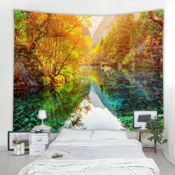 The Lake Forest 3D Printing Home Wall Hanging Tapestry for Decoration - multicolor W203CMXL153CM