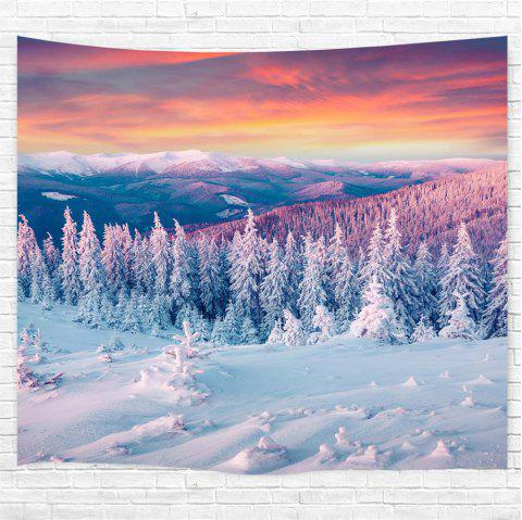 Snow 3D Printing Home Wall Hanging Tapestry for Decoration - multicolor W203CMXL153CM