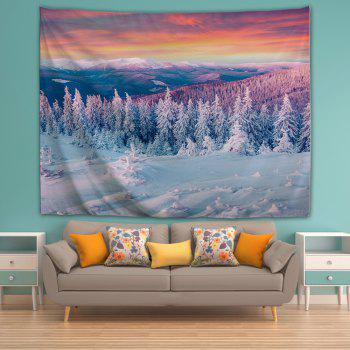Snow 3D Printing Home Wall Hanging Tapestry for Decoration - multicolor W153CMXL130CM