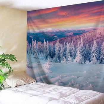 Snow 3D Printing Home Wall Hanging Tapestry for Decoration - multicolor W200CMXL180CM