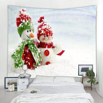 Red Green Snowman 3D Printing Home Wall Hanging Tapestry for Decoration - multicolor W200CMXL180CM
