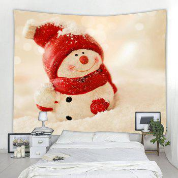 Snowman 3D Printing Home Wall Hanging Tapestry for Decoration - multicolor W153CMXL130CM