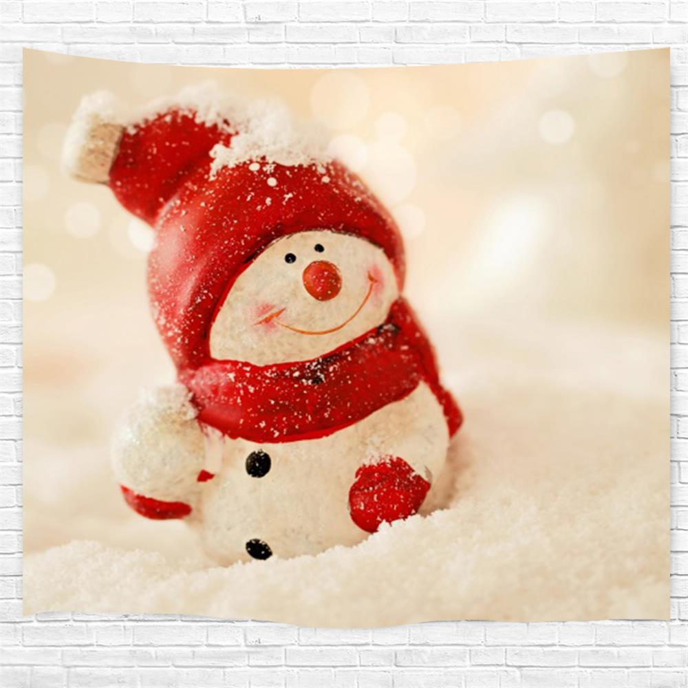 Snowman 3D Printing Home Wall Hanging Tapestry for Decoration - multicolor W203CMXL153CM