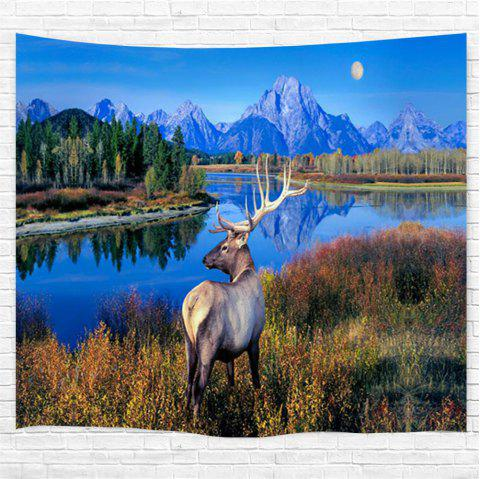 The Lake Milu Deer 3D Printing Home Wall Hanging Tapestry for Decoration - multicolor W230CMXL180CM