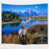 The Lake Milu Deer 3D Printing Home Wall Hanging Tapestry for Decoration - multicolor W153CMXL130CM