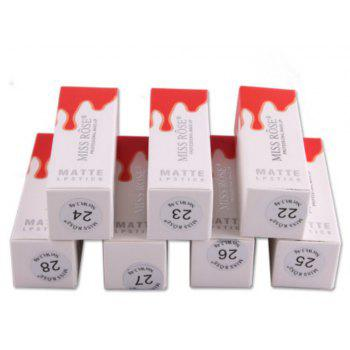 MISS ROSE Cosmétique 3D Matte Lipstick Petty Square Tube -