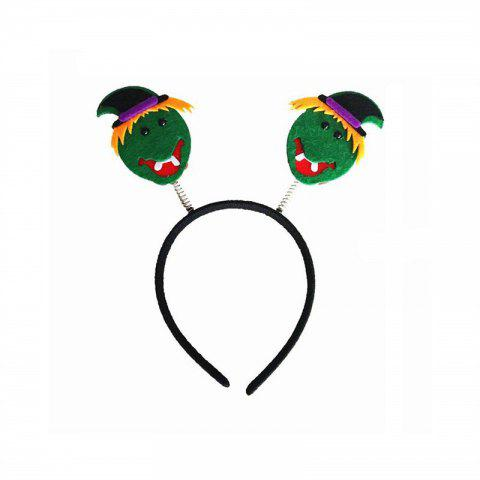 Halloween Party Makeup Hair Novelty Hoop Headpiece Accessories Costume - GREEN