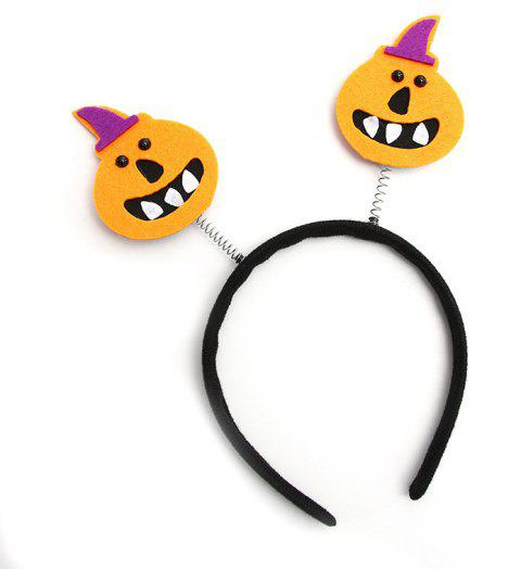 Halloween Party Makeup Hair Novelty Hoop Headpiece Accessories Costume - ORANGE