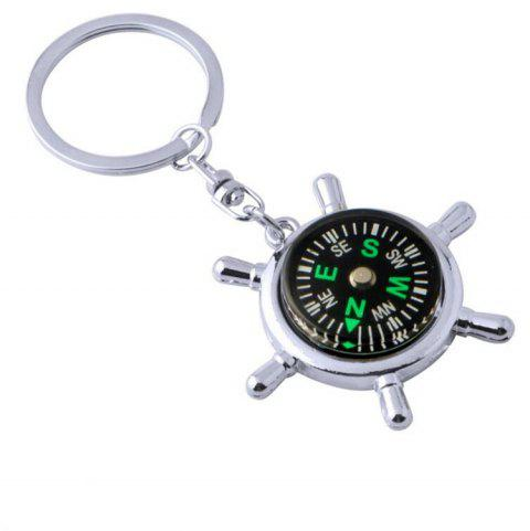 Personality Creative Compass Multifunctional Practical  Keychain - multicolor